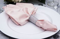 """Lamour Satin Napkin 20""""x20"""" - Blush  ● As Low as $0.57 ● Available from www.cvlinens.com"""