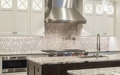 Wave mosaic installation in gray glosses. Shower Backsplash, Herringbone Backsplash, Kitchen Installation, Kitchen Images, Home Additions, Traditional Bathroom, Contemporary Bathrooms, Kitchen Backsplash, Kitchen Remodel