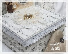 Shabby Chic Inspired-Altered box