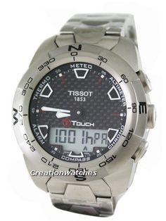 20046fa1172 Tissot T-Touch Expert Titanium T013.420.44.201.00 Compass Watch Tissot T  Touch