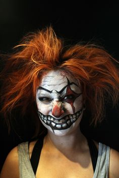 Payaso Malvado Artista: Angela Gabriela Angela, Halloween Face Makeup, Wicked, Artistic Make Up, Clowns, Atelier, Hair, Artists
