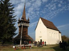 Church on the wheatfields -Lónya, Hungary The century historic reformed church of Lónya was built in romanesque style, with painted wooden boards on the ceiling. The church has one nave and no. Romanesque, Hungary, Budapest, Building, Travel, Painting, Construction, Trips, Traveling