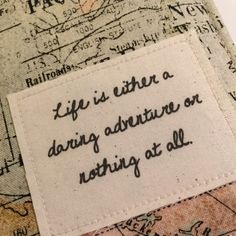 Passport Cover life is either a daring by destinationhandmade
