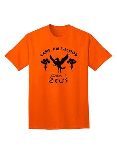 TooLoud Camp Half Blood Cabin 1 Zeus Adult T-Shirt