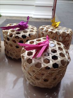 Gift packaging from basketwork handicraft  Chiang Mai, Thailand countryside    cr image : imootan