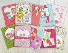 10 Valentine's Day Cards made with the Simon Says Stamp February 2017 Card Kit