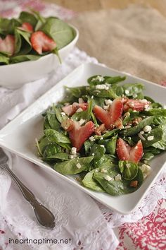 Strawberry Spinach #Salad on iheartnaptime.com ...yummy!!