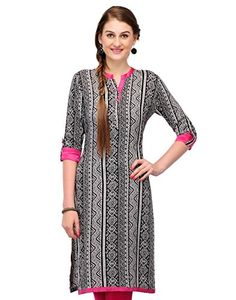 Cenizas Casual 3/4 Sleeve Graphic Print Women's Kurti - http://weddingcollections.co.in/product/cenizas-casual-34-sleeve-graphic-print-womens-kurti/