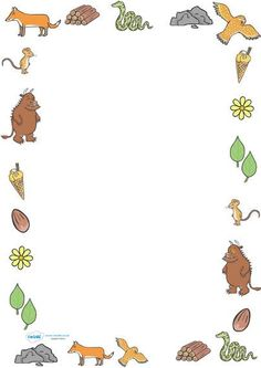 Twinkl Resources The Gruffalo Full Page Borders Thousands of printable primary… Gruffalo Eyfs, Gruffalo Activities, Gruffalo Party, Eyfs Activities, The Gruffalo, Writing Activities, Primary Teaching, Teaching Resources, Page Borders Free