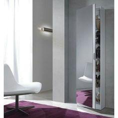 Zapatero puerta espejo