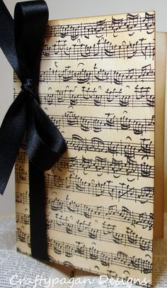 for Tanya and Raydar  Wedding Menu or Order of Service Music Notes by by craftypagan, $5.10 ///  I love this Tish!