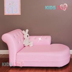 Deluxe Girls Pvc Leather / Crystal Princess Sofa / Day Couch / Chaise Lounge