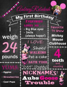 Minnie birthday chalkboard