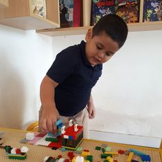 Playing at the Lego table
