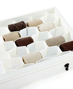 Whitmor Honeycomb Drawer Organizer..Macy's. I am going to buy this... actually I need several !!! A GREAT thing to do for myself and loved ones.