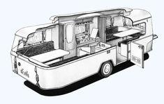 la vue intérieure de la caravane Eriba Touring Titan