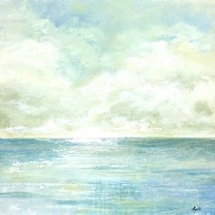 Portfolio Canvas Decor Angellini 'Tranquil Sea I' Framed Canvas Wall Art - Free Shipping Today - Overstock.com - 17290553 - Mobile
