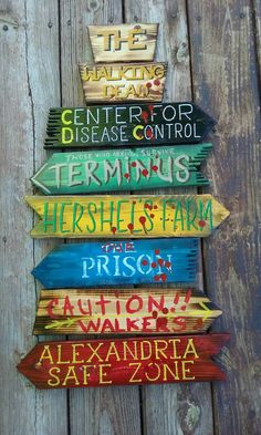 The Walking Dead Fandom direction sign wall mount. by DevcoDesigns