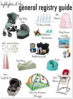 General Baby Registry Guide highlights - check out the post for the full list!