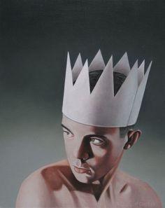 'Paper King', oil on linen, 50 x 40 cm, 2017 www.petercolstee.com