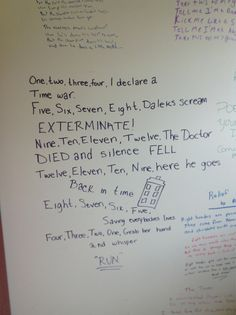 Love this!  Doctor Who Graffiti (Found On Reddit)