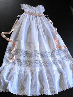 heirloom sewing | Heirloom Sewing / Vintage Victorian Christening Gown English by ...