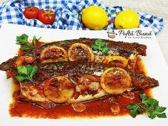 Macrou cu rosii si usturoi la cuptor, reteta simpla de macrou la cuptor, usor picant, cu un sos bun de te lingi pe degete. Gin, Seafood, Pork, Make It Yourself, Youtube, Fish, Sea Food, Kale Stir Fry, Jeans