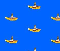 Yellow Submarine fabric by bovetdesigns on Spoonflower - custom fabric