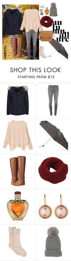 """Rainy Day"" by natalihailey ❤ liked on Polyvore featuring New Look, Dorothy Perkins, MANGO, Isotoner, Madden Girl, Victoria's Secret, Max Factor, Dyrberg/Kern, UGG and Eugenia Kim"