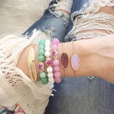 """⋙ It's me, L i s e ⋙ on Instagram: """"My shop is temporarily closing tomorrow morning and will reopen late next week! •any purchases made before I close will be shipped on Monday• New pieces will be added, like these larger gemstone chain bracelets in 4 colors... {and more}! I totally have spring on my mind """""""