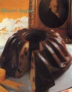 Mozart kuglóf Hungarian Cake, Hungarian Recipes, Hungarian Food, Bakery Recipes, Cookie Recipes, Bread Dough Recipe, Ring Cake, Savarin, Sweet Life