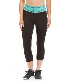 Capri Colorblock Workout Leggings