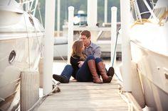 Stewart-Hunter Photography | Boat Dock Engagement Session