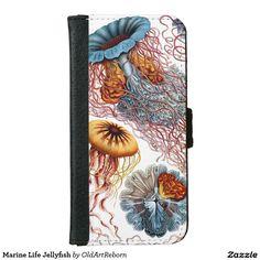 Marine Life Jellyfish iPhone 6 Wallet Case