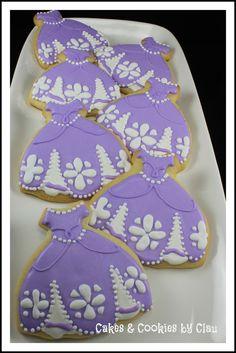 Sofia The First Dresses Cookies - @Jess Pearl Liu Carcache Ortega