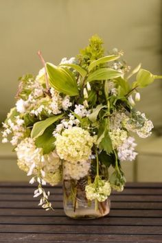 Modern White Wedding Centerpiece