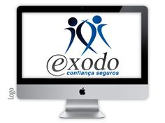 Logo criado para a empresa exodo pela agência Nkdesign
