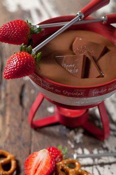 Chocolate Fondue and strawberries