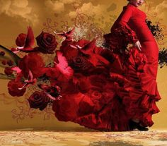 Flamenco dancer costume is one thing that attracted the most attention… Flamenco Spanish dancer costume can be adapted into some kind of dress… such as party dresses, wedding gowns, dresses and even Muslims… Foto Fantasy, Spanish Dancer, Foto Art, Hula, My Favorite Color, Lady In Red, Diana, Photos, Pictures
