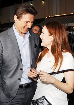 Celebrity Parties: February 21 to February 27, 2014 - Liam Neeson and Julianne Moore