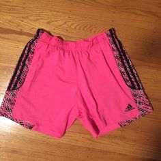 Adidas soccer or basketball shorts A little short for basketball shorts but still look good. These are labeled size medium and have an adjustable waistband so will fit a variety of sizes. Only worn once, in perfect condition. I'm willing to negotiate the price of bundles so let me know if you see this item and anything else you'd be interested in Adidas Shorts