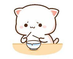 Cute Couple Cartoon, Cute Cartoon Pictures, Cute Love Pictures, Cute Love Cartoons, Cute Love Gif, Cute Cat Gif, Cute Cats, Cute Bear Drawings, Cute Animal Drawings Kawaii
