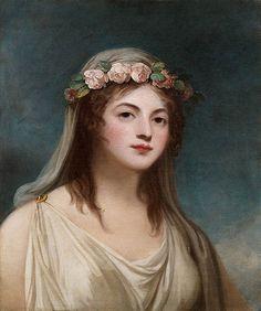 EMMA LYON LADY HAMILTON Women In History, Art History, Hamilton, Joshua Reynolds, Historical Art, Flower Fashion, Women's Fashion, Watercolor Print, Dame