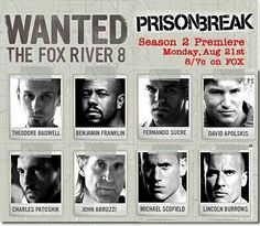 Prison Break – loved this show! Fox River 8, Fox River Prison, Best Series, Tv Series, Theodore Bagwell, Stranger Things, Wentworth Miller Prison Break, Dominic Purcell, Comics