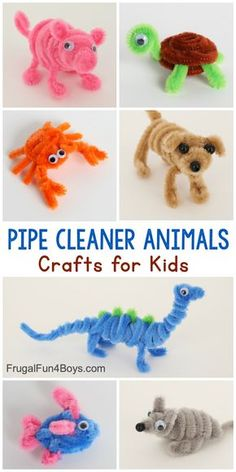 Adorable Pipe Cleaner Animals Craft for Kids - Frugal Fun For Boys and Girls. Adorable Pipe Cleaner Animals Craft for Kids - Frugal Fun For Boys and Girls Animal Crafts For Kids, Fun Crafts For Kids, Craft Activities For Kids, Cute Crafts, Toddler Crafts, Preschool Crafts, Diy Crafts To Sell, Diy For Kids, Craft Kids
