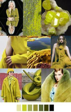 #Farbbberatung #Stilberatung #Farbenreich mit www.farben-reich.com A/W 2016 Color Trend: SULFURIC ACID