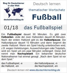 "My Translation :P tell me what you think A football match lasts 90 minutes. Are given 2 half-times. Each lasts 45 minutes. After the first time there is the half-time break.The break lasts 15 minutes and after starts the second half-time. When a match is interrupted, for example due to an injury, a substitution, or celebrations for the goal, to the match are given few minutes more. This time is called additional time. A famous german national coach once said : ""After the game is before the…"