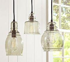 Pendant Lighting, Pendant Light Fixtures & Lights | Pottery Barn breakfast table!!!!
