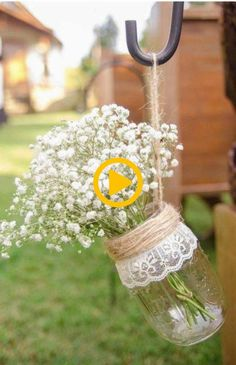 Rustic/vintage/classic farmhouse wedding mason jar designs for Rustic Garden Decor, Outdoor Garden Decor, Rustic Gardens, Pots, Jar Design, Our Wedding, Mason Jars, Projects To Try, Make It Yourself