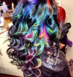 #Ombre Hair #Rainbow Hair #Hair Color